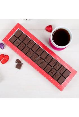 Hediye Sepeti Affet Beni Sevgilim Mesajlı Harf Çikolata