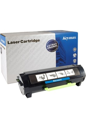 Keymax Laser Toner Lexmark Ms317/417 - Mx317/417 10.000 Sayfa Ultra Yüksek Kap. Siyah