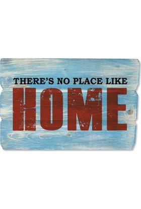 Harf Sepeti Ahşap Duvar Panosu There Is No Place Like Home