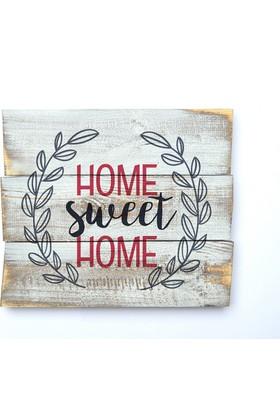 Harf Sepeti Ahşap Duvar Panosu Home Sweet Home