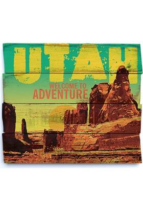 Harf Sepeti Ahşap Duvar Panosu Utah
