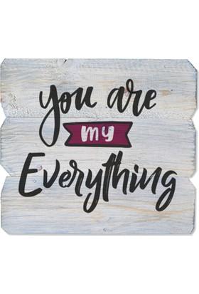 Harf Sepeti Ahşap Duvar Panosu You Are My Everything