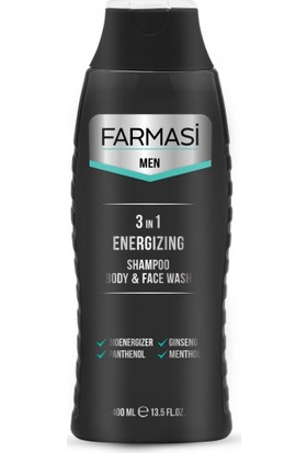 Farmasi Men 3'ü 1 Arada Enerji Veren Şampuan, Yüz Ve Duş Jeli 400 ml