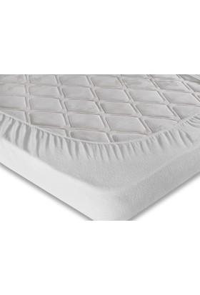 Nimet - Havlu Kumaştan Sıvı Geçirmez Yatak Koruyucu Alez