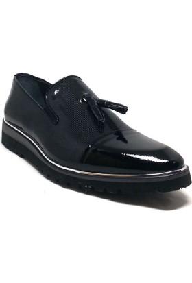 Shop And Shoes 075-2729 Erkek Ayakkabı Siyah Rugan