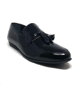 Shop And Shoes 075-9357 Erkek Ayakkabı Siyah Rugan