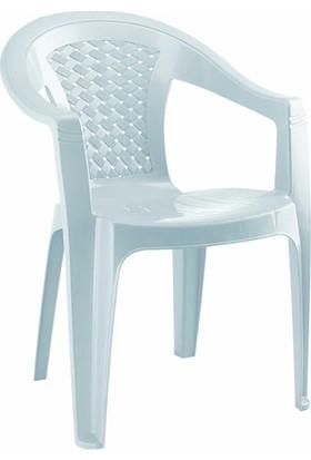 Gardelia Lux 1 Adet Plastik Koltuk Sandalye Takımı 1.Sınıf Beyaz