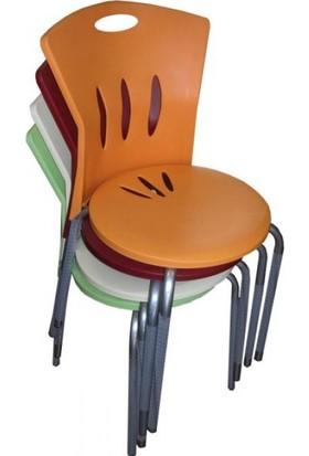 Arslan Plastik Asos Sandalye Aleyna 4'Lü Takım