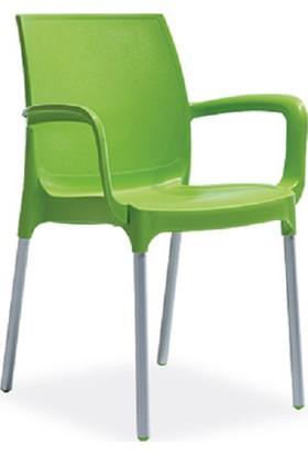 Novussi Sunset Model 6 Adet Sandalye Yeşil Renk