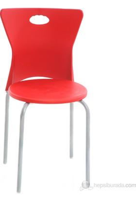 Plastik Sandalye - Kırmızı