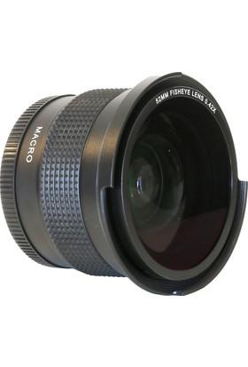 Raypro 55 mm 0.42x Super HD Fisheye + 12.5 Dioptri Makro Lens