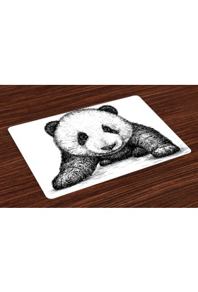 Orange Venue Bebek Panda Amerikan Servis Siyah Beyaz Sanat