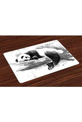 Orange Venue Uyuyan Panda Desenli Amerikan Servis Uyuyan Panda Siyah Beyaz