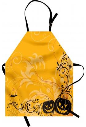 Orange Venue Cadılar Bayramı Temalı Mutfak Önlüğü Sarı Bal Kabağı