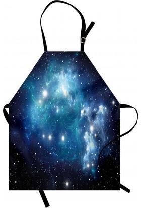 Orange Venue Evren ve Galaksi Mutfak Önlüğü Şık Tasarım