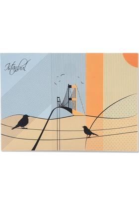 Pulp İstanbul Desenli Kartpostal