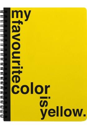 Pulp Yellow Çizgili Defter (A4)