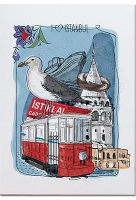 Pulp İstanbul Temalı Kartpostal