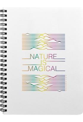 Pulp Nature Is Magical Reflect Noktalı Defter