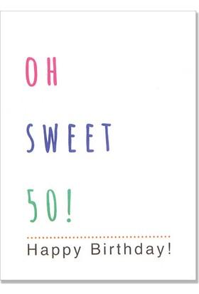 Pulp Oh Sweet 50! Tebrik Kartı