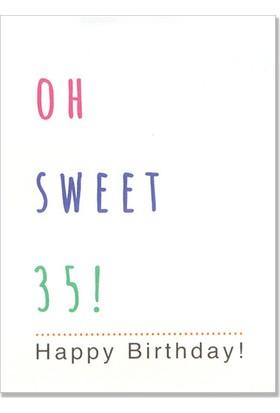 Pulp Oh Sweet 35! Tebrik Kartı