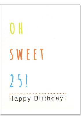 Pulp Oh Sweet 25! Tebrik Kartı