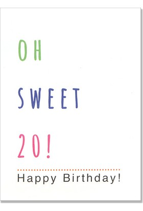 Pulp Oh Sweet 20! Tebrik Kartı