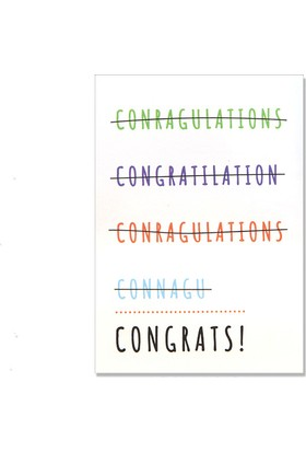 Pulp Congrats Tebrik Kartı