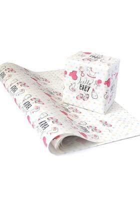 KagitoPembe Hello Baby Hediye Kağıdı (10'lu Paket)