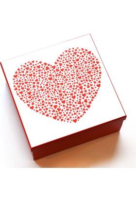 KagitoKırmızı Kalpli Kutu