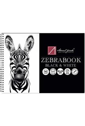 Avant-Garde Zebra Siyah/Beyaz Eskiz Defteri (48×68 cm, 140 gr Siyah, 160 gr Beyaz)