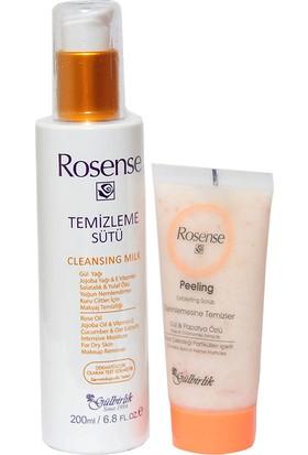 Rosense Yüz Temizleme Seti - Peeling & Temizleme Sütü