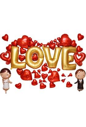 Cin Evlilik Teklifi 53 Parça Kalp Ve Love Balon Seti Cin128