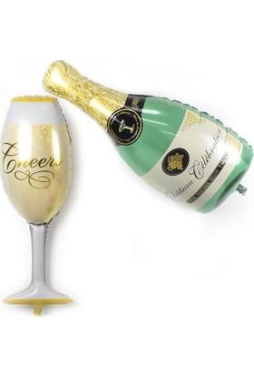Cin Doğum Günü Dev Boy Şampanya Kadeh Folyo Balon Cin174