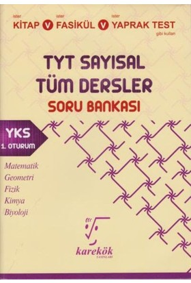 Karekök Tyt Sayısal Tüm Dersler Soru Bankası