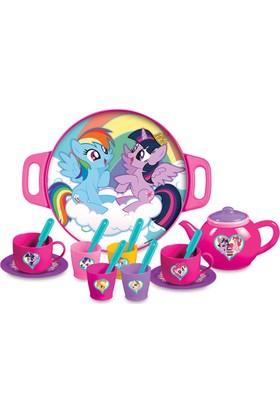 Dede 17 Parça Pony Ve Arkadaşları Tepsili Çay Seti 2048