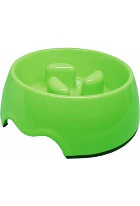 Pet Garden Köpek İçin Yavaş Besleme Mama Kabı 21 M-Yükseklik 6 Cm Yeşil