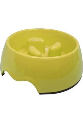 Pet Garden Köpek İçin Yavaş Besleme Mama Kabı 0,5 L Sarı
