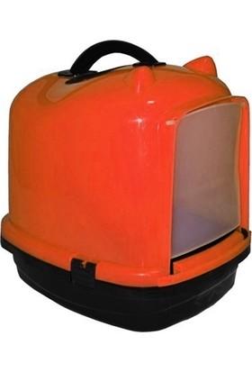 Markapet Kapalı Kedi Tuvalet Kabı 49.5*40*50 Cm Turuncu