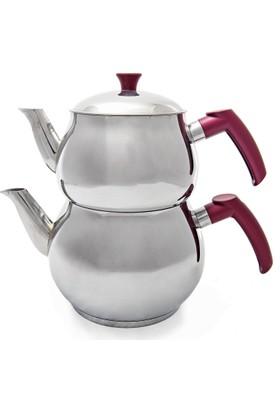 Rys Orta Boy Çelik Çaydanlık