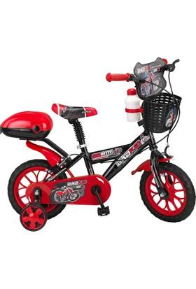 """Ümit Corvette 12"""" Bad Kit Siyah Kırmızı Çocuk Bisikleti"""