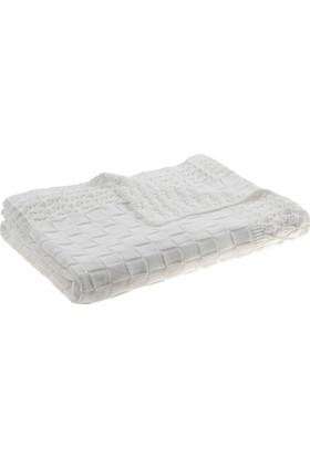 Sarev Cutie Bebek Battaniyesi Beyaz