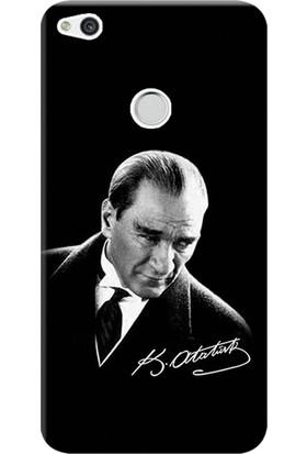 Kılıf Merkezi Huawei P9 Lite 2017 Kılıf Silikon Baskılı Mustafa Kemal Atatürk STK:390