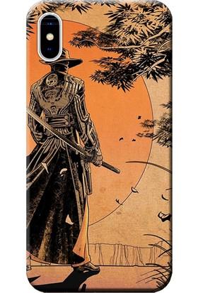 Kılıf Merkezi iPhone X Kılıf Silikon Baskılı Samurai STK:256