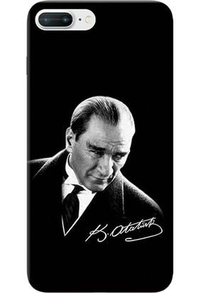 Kılıf Merkezi iPhone 7 Plus Kılıf Silikon Baskılı Mustafa Kemal Atatürk STK:390
