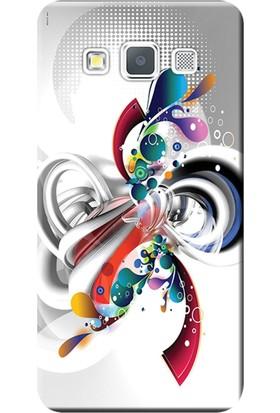 Kılıf Merkezi Samsung Galaxy E5 Kılıf SM-E500 Silikon Baskılı Rendkli Tasarım STK:570