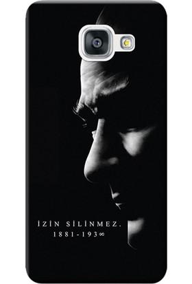 Kılıf Merkezi Samsung Galaxy A7 2017 Kılıf SM-A720 Silikon Baskılı Atatürk İzin Silinmez STK:389