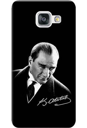 Kılıf Merkezi Samsung Galaxy J7 Prime Kılıf SM-G610 Silikon Baskılı Mustafa Kemal Atatürk STK:390