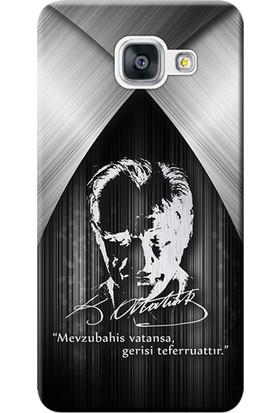Kılıf Merkezi Samsung Galaxy J7 Prime Kılıf SM-G610 Silikon Baskılı Atatürk Tasarım STK:401