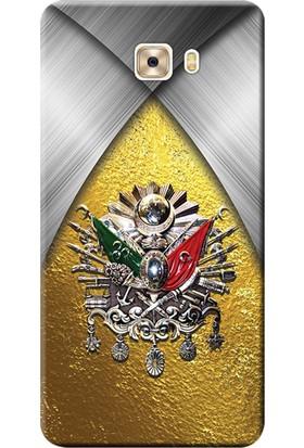 Kılıf Merkezi Samsung Galaxy C7 Pro Kılıf SM-C7010 Silikon Baskılı Osmanlı Tuğra Tasarım STK:424